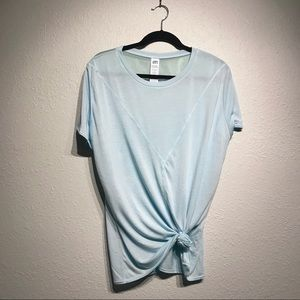 Light Blue Joy Lab Exercise Top with Mesh